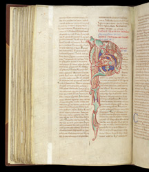 Decorated Psalm 74 Initial, In St. Augustine's 'Commentary On Psalms 51-100'